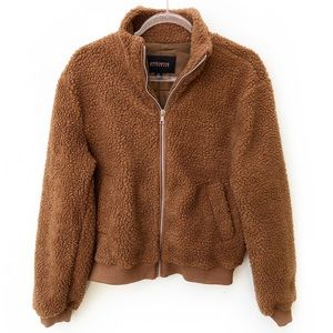 NWT Ambiance Outerwear Teddy Faux Fur Zip Jacket